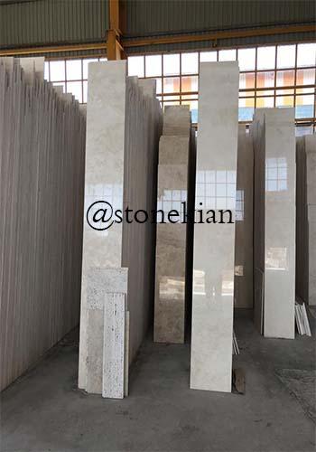 کاربرد سنگ تراورتن سفید آتشکوه در نمای ساختمان