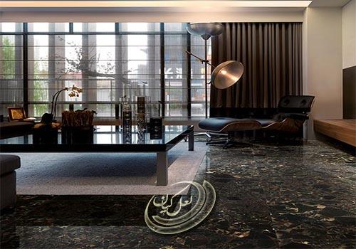 سنگ فرش فضاهای داخلی و تجاری و اداری
