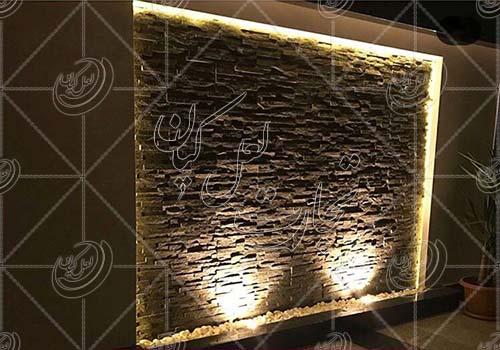 کاربرد سنگ های نا منظم در دیوار