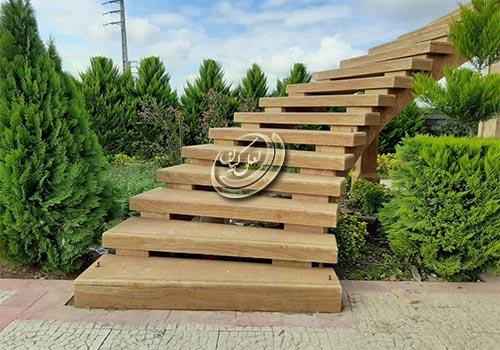 فروش سنگ نما تراورتن طرح چوب