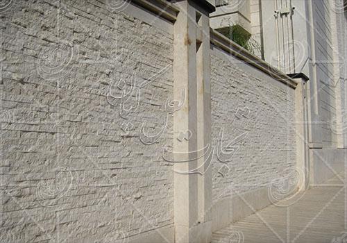 سنگ تراورتن سفید کف و دیوار