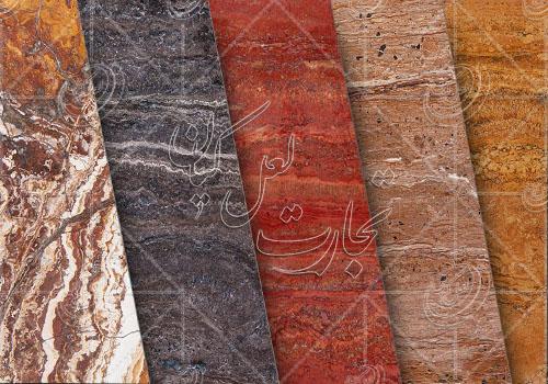 انواع سنگ تراورتن با توجه به رنگ